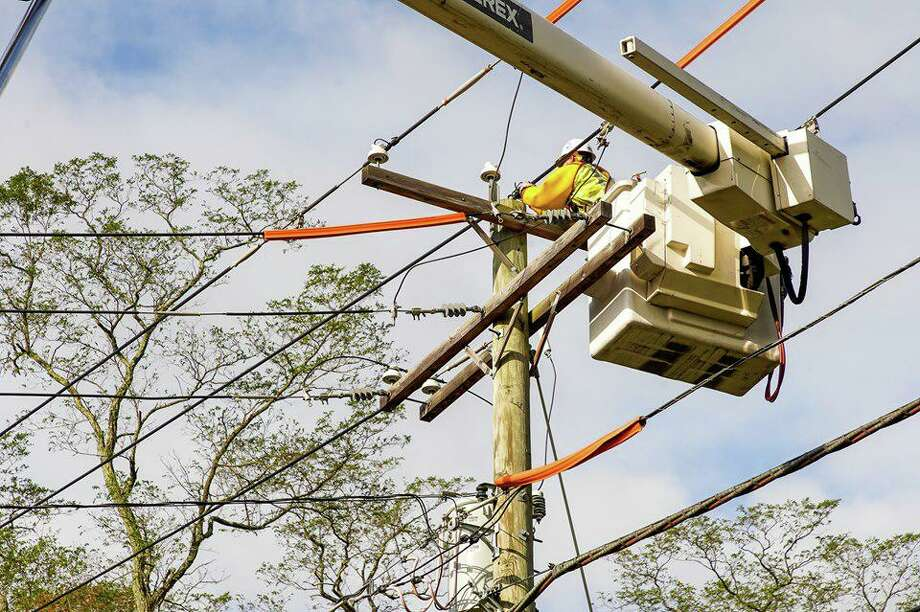 United Illuminating and Eversource are working to restore power after a strong storm on Thursday, Oct. 17, 2019. Photo: UI Photo