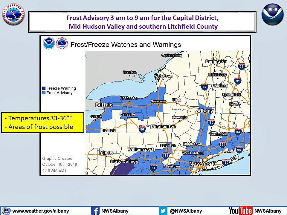 After the storm, now a frost advisory for most of CT