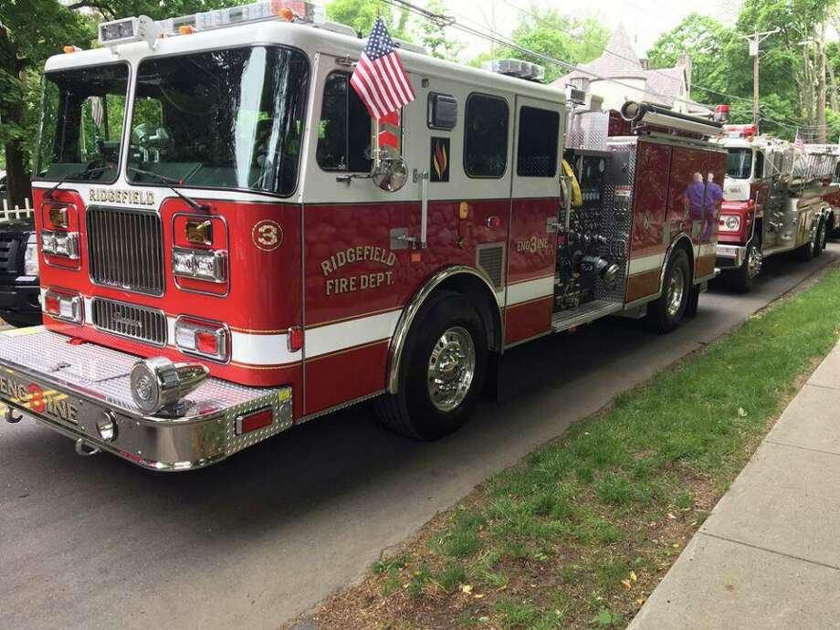 The Ridgefield Fire Departmnet was on scene all night at a fire on Pumping Station Road and Oscaleta Road. Photo: /
