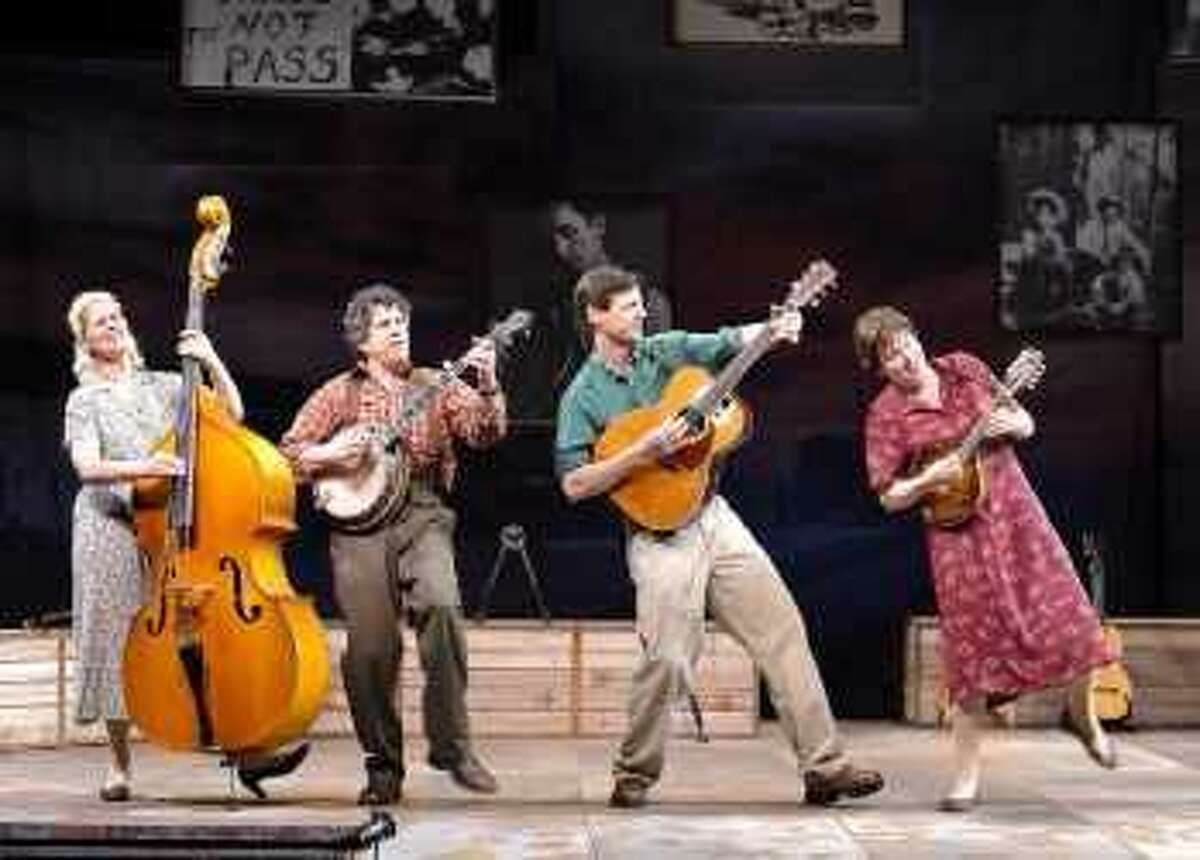 The cast of 'Woody Sez: The Life and Music of Woody Guthrie.