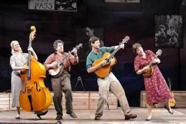 The cast of 'Woody Sez: The Life and Music of Woody Guthrie.""