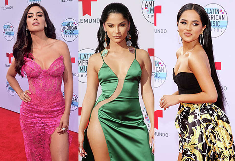 Latin American stars lit up the red carpet Thursday night at the Latin AMAs.
