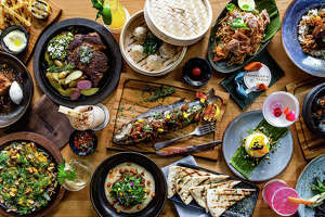 Assorted dishes at Traveler's Table, the new global flavors restaurant at 520 Westheimer.