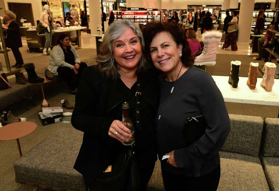 "Norwalk resident Lesley Jacobs and Westport resident Susan Hotz enjoy Nordstrom's scheduled ""night out"" benefit for two Fairfield County charities in the new SoNo Collection mall on Thursday, Oct. 10 in Norwalk. Photo: Erik Trautmann / Hearst Connecticut Media / Norwalk Hour"