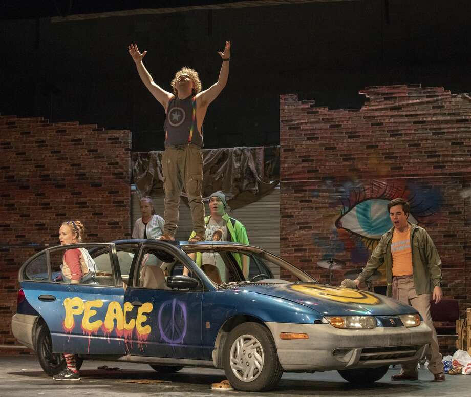 Godspell cast members rehearse on Wednesday, Oct. 2, 2019 opens at the Permian Playhouse.   Jacy Lewis/Reporter-Telegram Photo: Jacy Lewis/Reporter-Telegram