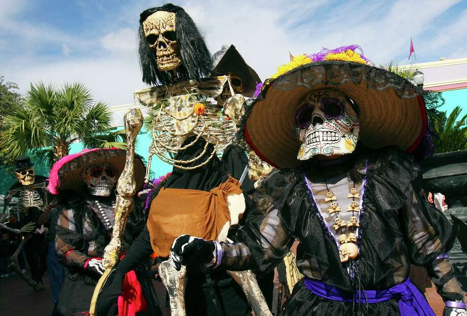 Día de los Muertos is a time to reflect and remember those we have lost, but mythical visitors sure can be spooky. Photo: EDWARD A. ORNELAS /SAN ANTONIO EXPRESS-NEWS / eornelas@express-news.net