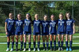 The Wilton girls soccer team's seniors will be recognized as part of the Senior Night activities when the Warriors host Stamford next Friday (Oct. 25) at Lilly Field. The ceremony starts at 6 p.m., followed by the game. Left to right: Caroline Hess, Sophie Peterson, Sophia Scarfi, Olivia Gladstein, Sophie Sudano, Elana Alber, Sara Schneidman, Olivia Vitarelli.