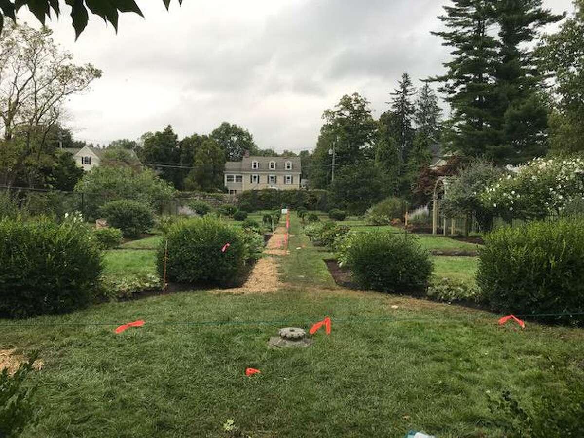 The long parterre garden at Ballard Park.