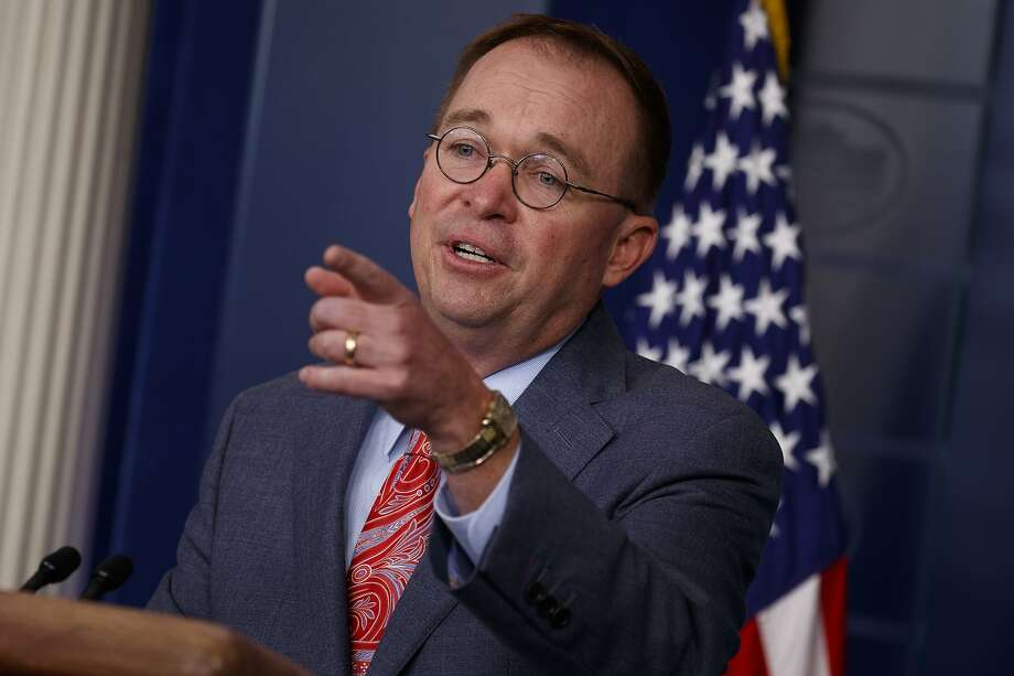 White House chief of staff Mick Mulvaney announces that the G7 will be held at Trump National Doral, Thursday, Oct. 17, 2019, in Washington. (AP Photo/Evan Vucci) Photo: Evan Vucci / Associated Press