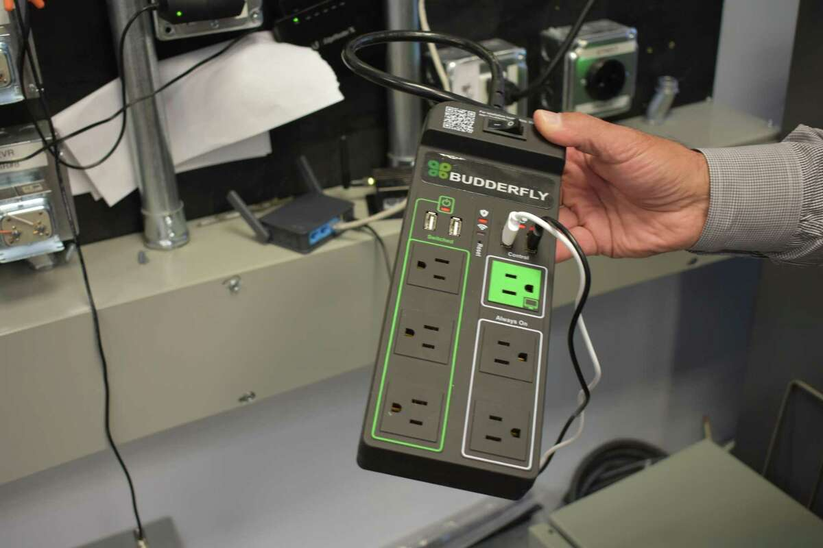 A Budderfly power strip designed to monitor electric use. The Shelton, Conn.-based startup guarantees energy savings for its commercial customers, with a portion of those savings representing its own revenue. CEO Al Subbloie previously built Tangoe into a company with more than 2,300 employees analyzing telecommunications bills of its business clients for possible savings.