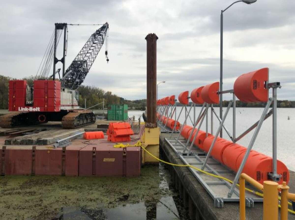 NYPA is installing a boat denial line at Vischer Ferry