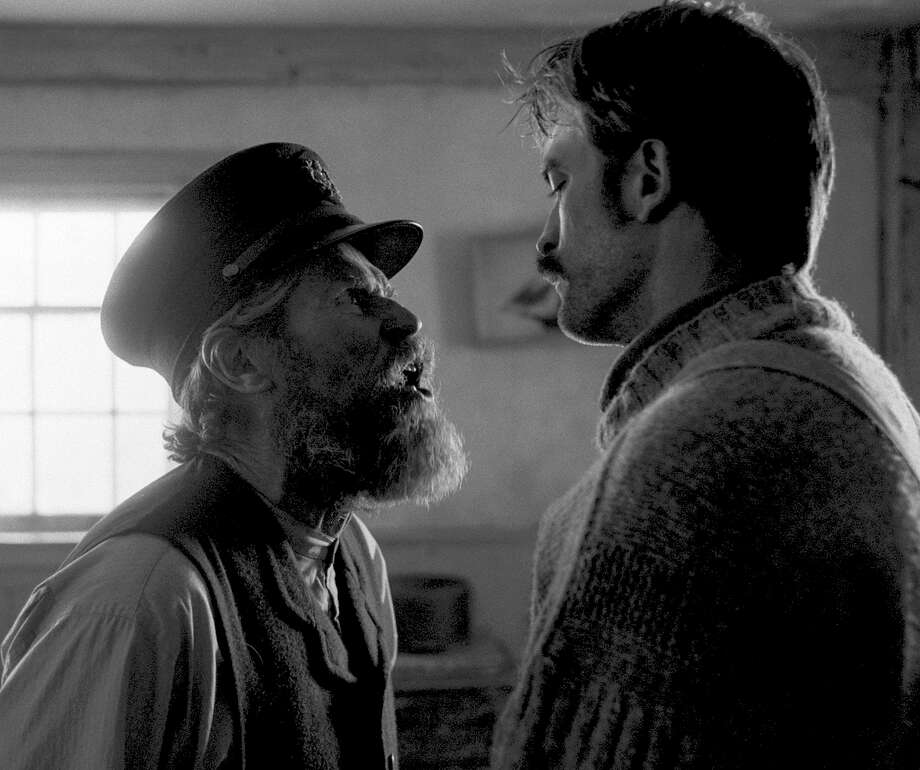 "Willem Dafoe and Robert Pattinson star as sparring lighthouse keepers who drive each other mad in Robert Eggers's ""The Lighthouse."" MUST CREDIT: A24 Pictures Photo: A24 Films / A24 Pictures / 2019 A24 Films"