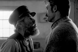 "Willem Dafoe and Robert Pattinson star as sparring lighthouse keepers who drive each other mad in Robert Eggers's ""The Lighthouse."" MUST CREDIT: A24 Pictures"