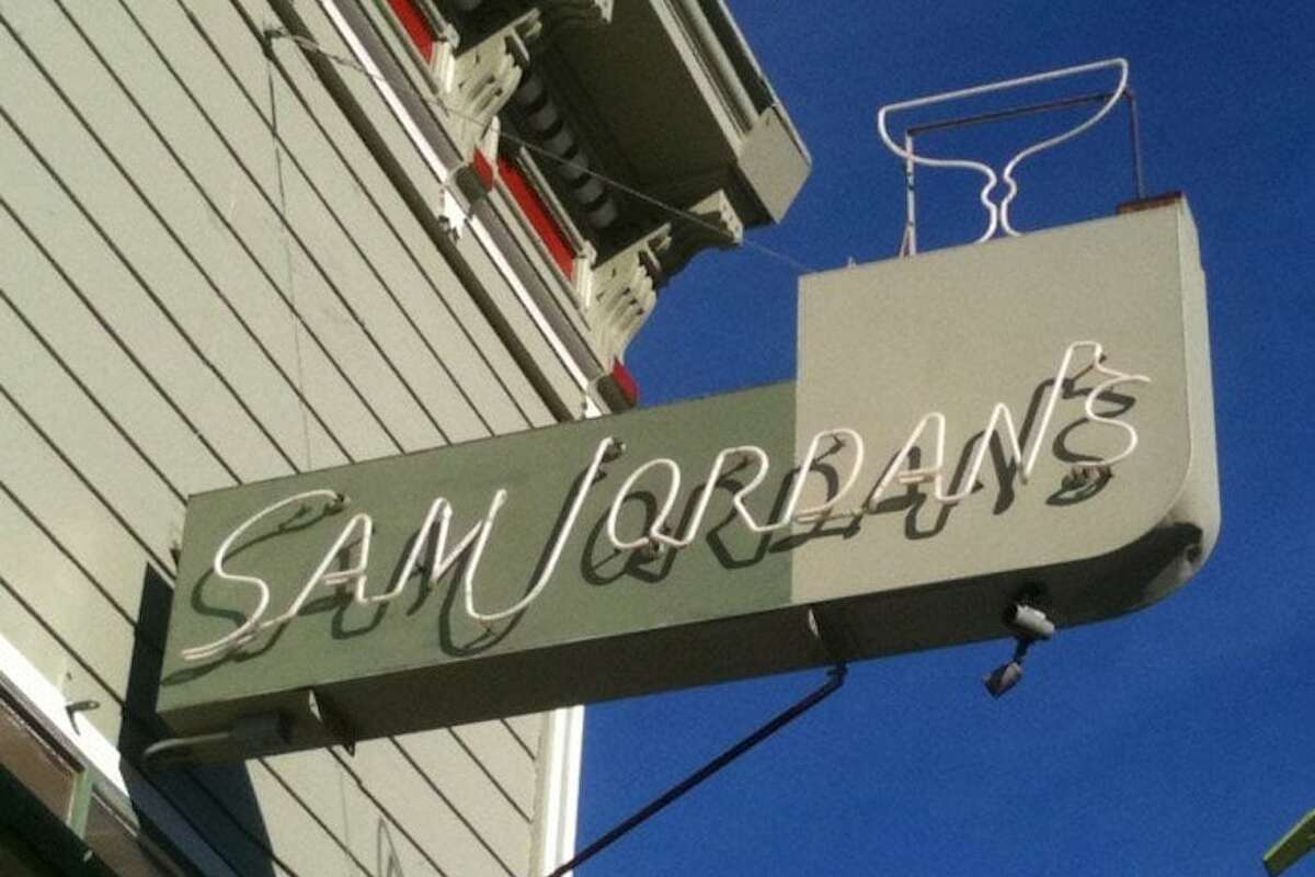 The outside of Sam Jordan's bar, which is closing Nov. 2.