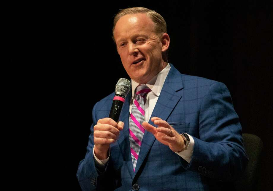 Former White House press secretary Sean Spicer speaks during an event hosted by the World Affairs Council of Greater Houston on Wednesday, October 16, 2019 at The John Cooper School in The Woodlands. Photo: Cody Bahn, Houston Chronicle / Staff Photographer / © 2019 Houston Chronicle