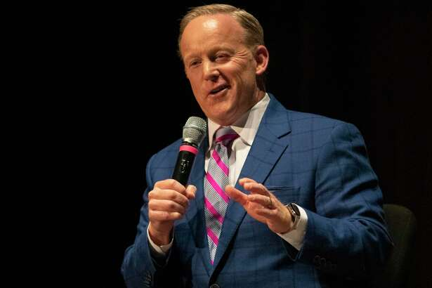Former White House press secretary Sean Spicer speaks during an event hosted by the World Affairs Council of Greater Houston on Wednesday, October 16, 2019 at The John Cooper School in The Woodlands.