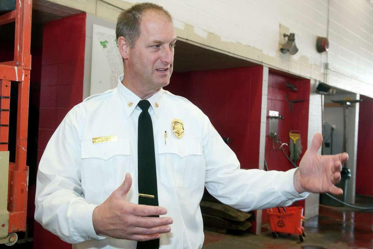 FILE PHOTO: Deputy Fire Chief Ron Rolfe speaks following a
