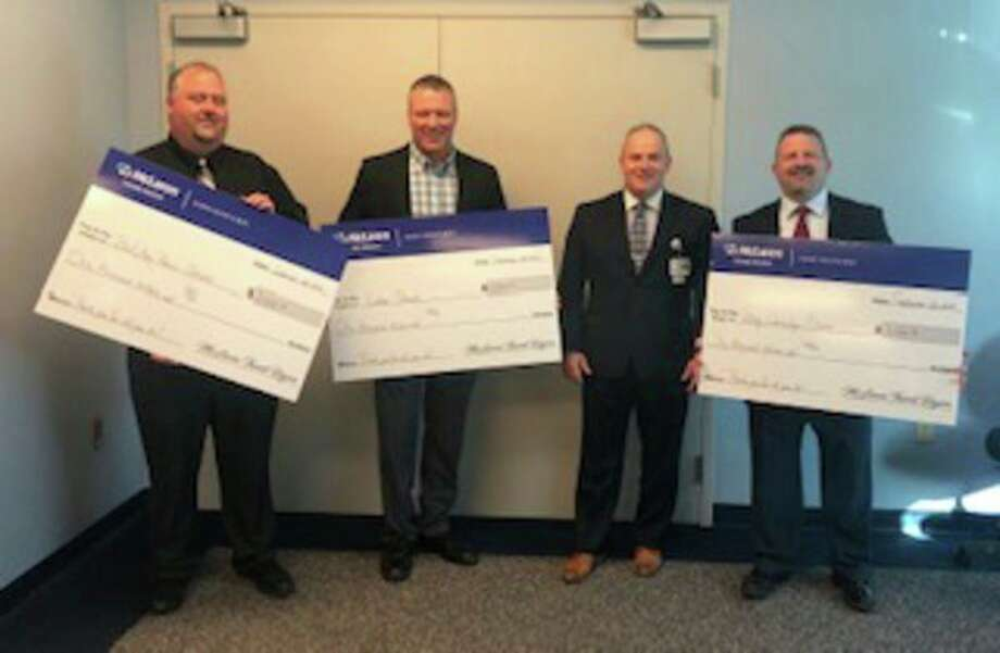 McLaren Thumb Region presented $1,000 to each school district. (Submitted Photo)
