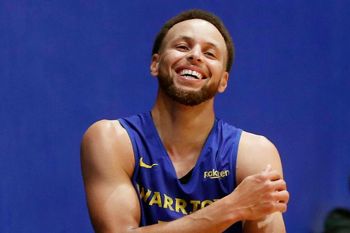 Golden State Warriors' Stephen Curry during training camp at Chase Center in San Francisco, Calif., on Tuesday, October 1, 2019.