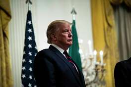 President Donald Trump appears at White House event on Oct. 16, 2019.