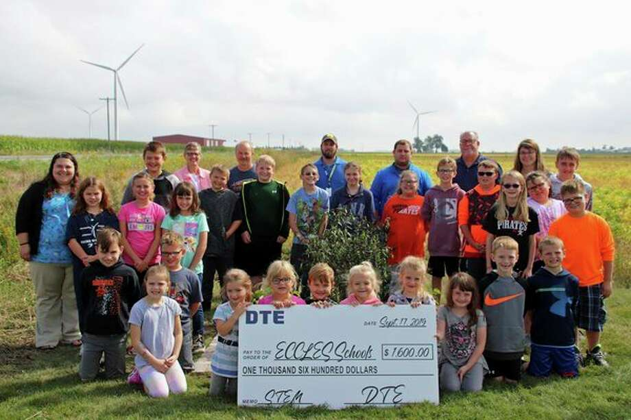 DTE representatives with students from Eccles school. (Photo provided by DTE Energy)