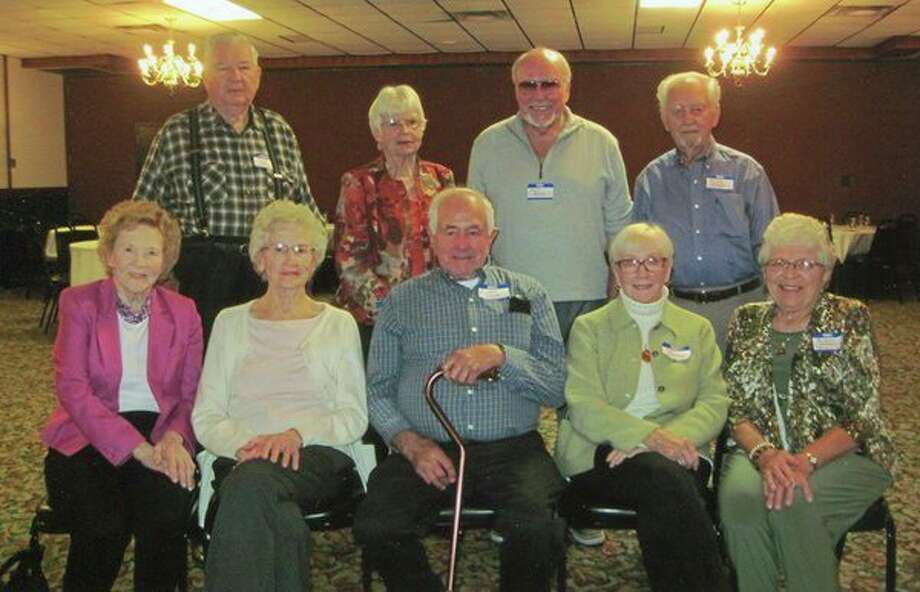 The Ubly class of 1951 had their 68th reunion with nine people attending. They were (front row) Betty (Polk) Stawicki, Bernie (Fligger) Janowiak, Elmer Susalla, Pat (Spitza) Hungerman and Marlene (Lubeski) Bukoski; (back row) Don Kulish, Mary (Van Erp) Kubacki, Earl Brown and Jerry Zinger. (Submitted Photo)