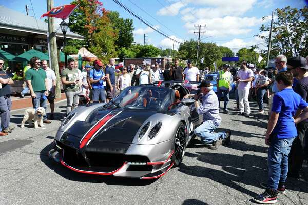 Caffeine and Carburetors is a popular event in New Canaan, to be held in Waveny Park, Sunday Oct. 20. The picture was taken on the Pine Street and Elm Street event on Sunday, Sept 15. Grace Duffield / Hearst Connecticut Media
