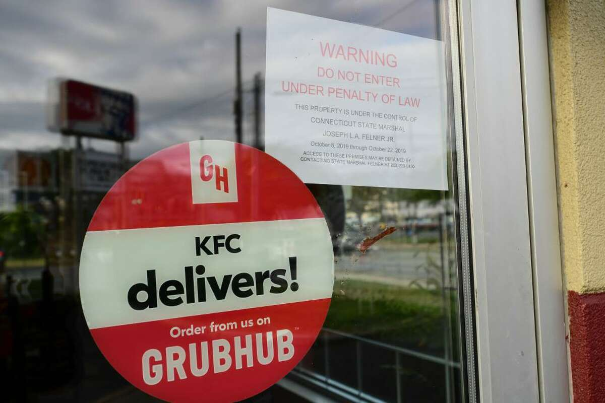KFC on Richards Avenue in Norwalk has been shut down for failing to pay rent in more than five months.