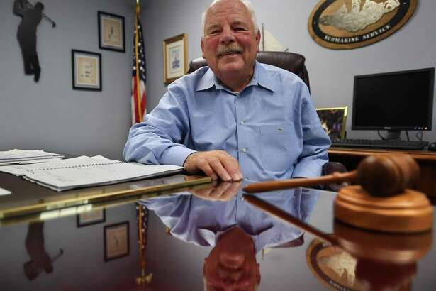 Oxford First Selectman George Temple is seeking a fifth term this November.