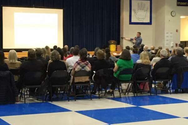 About 80 people attended a community forum that discussed the results of the recent Attitudes and Behaviors Survey.