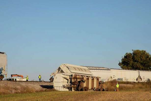 Plastic pellets spilled from a train car that went off the rails Thursday outside of Jacksonville.