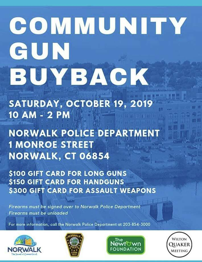 Norwalk, Conn., police are hosting a gun buyback on Saturday, Oct. 19, 2019. Photo: Contributed Photo / Norwalk Police Department