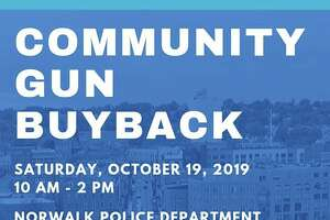 Norwalk, Conn., police are hosting a gun buyback on Saturday, Oct. 19, 2019.