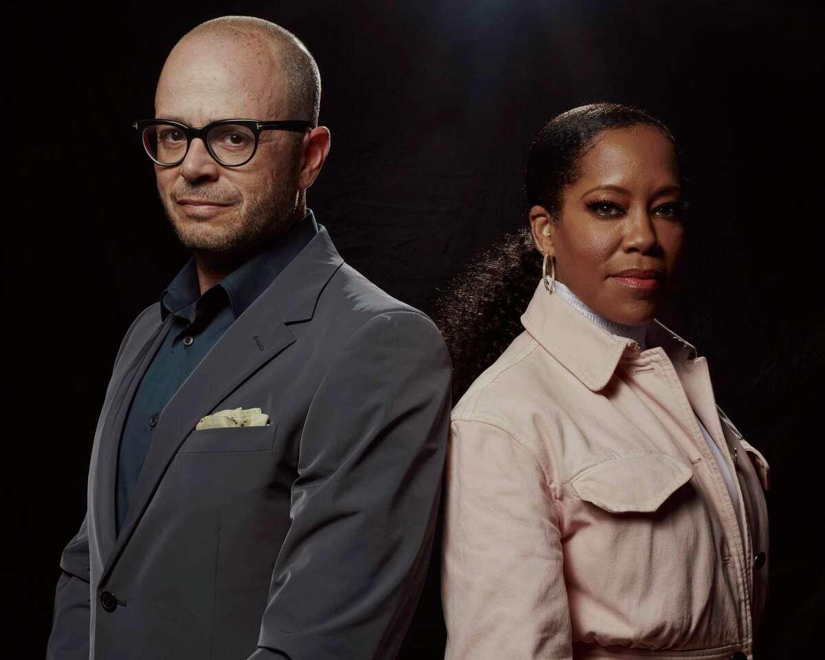 Damon Lindelof and Regina King in New York, Oct. 4, 2019. Lindelof is the creator of HBO's adaptation of