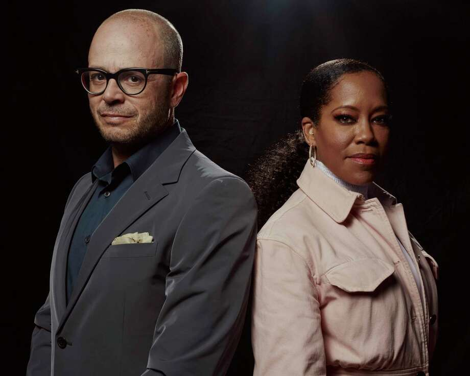 "Damon Lindelof and Regina King in New York, Oct. 4, 2019. Lindelof is the creator of HBO's adaptation of ""Watchmen"" and King stars in the series. (Vincent Tullo/The New York Times) Photo: VINCENT TULLO / NYTNS"