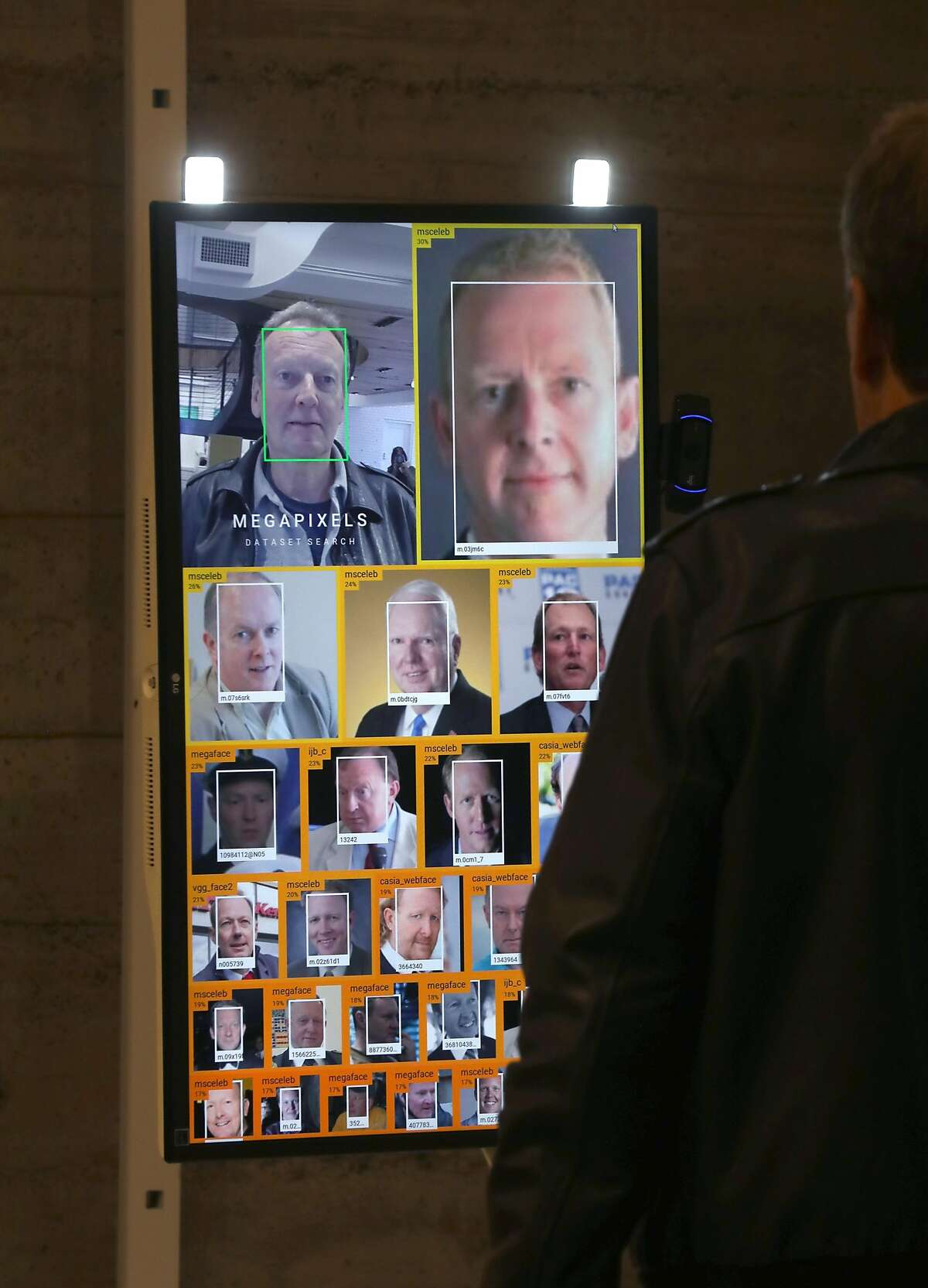 Face recognition is part of a new pop-up exhibition called