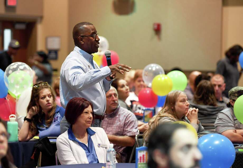 Lamar Institute of Technology's President Lonnie L. Howard speaks during the school's Convocation on Friday.  Photo taken Friday, 10/18/19 Photo: Guiseppe Barranco/The Enterprise, Photo Editor / Guiseppe Barranco ©