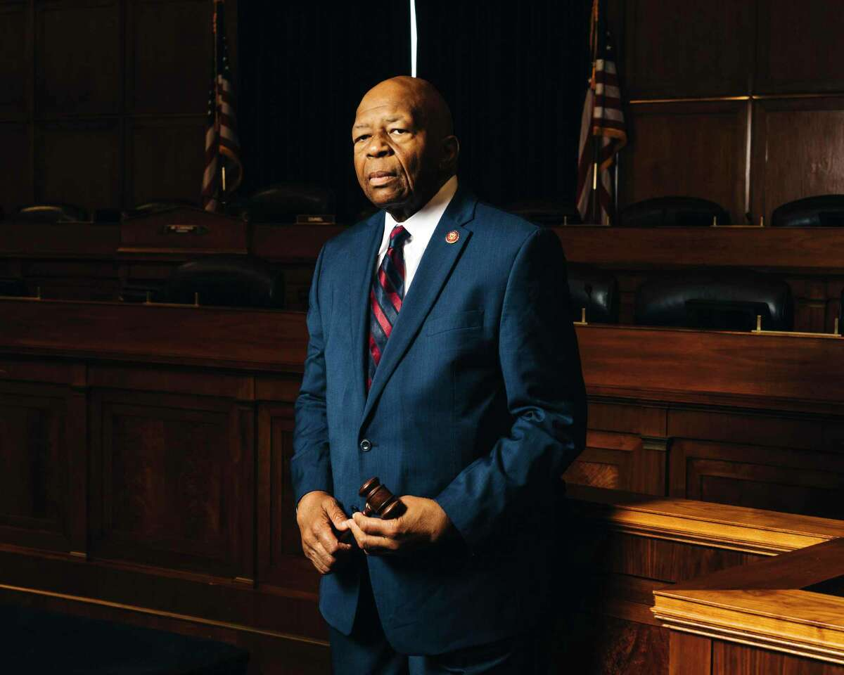 FILE -- Rep. Elijah Cummings (D-Md.) in the House Oversight Committee hearing room in Washington on May 2, 2019. Cummings, a son of sharecroppers who rose to become one of the most powerful Democrats in Congress and a central figure in the impeachment investigation of President Donald Trump, died on Thursday, Oct. 17, 2019 in Baltimore. He was 68. (Justin T. Gellerson/The New York Times