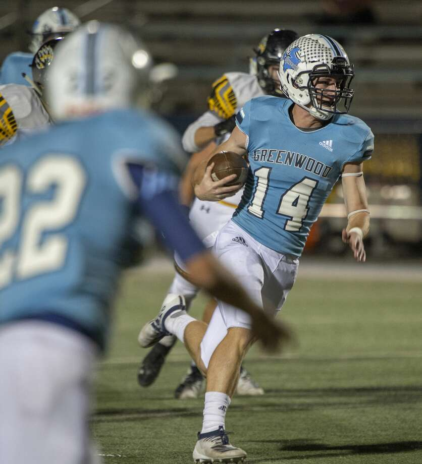 Greenwood's Weston Wilber looks for open space to run 10/18/19 as they take on Snyder at J.M. King Memorial Stadium. Tim Fischer/Reporter-Telegram Photo: Tim Fischer/Midland Reporter-Telegram