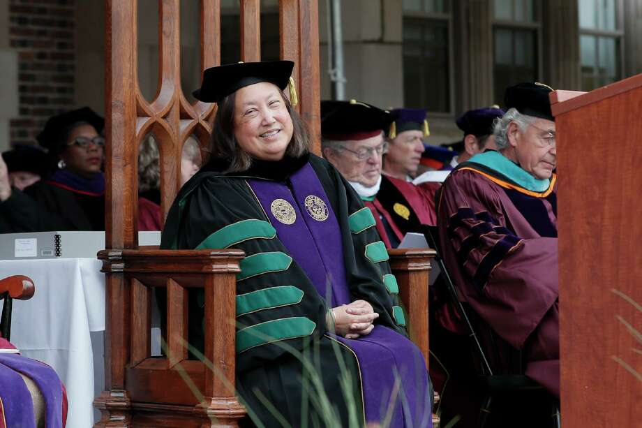 Joyce P. Jacobsen was unanimously chosen to serve as the 29th president of Hobart College and the 18th president of William Smith College earlier this year. She was inaugurated on Friday, Oct. 18, 2019. Photo: Contributed Photo / Kevin Colton For Hobart And William Smith Colleges