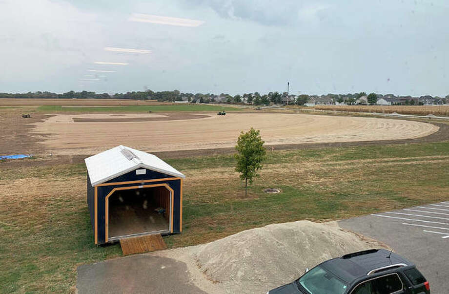 Work continues on the new Father McGivney baseball field, which is located behind the school at 7190 Bouse Road in Glen Carbon.