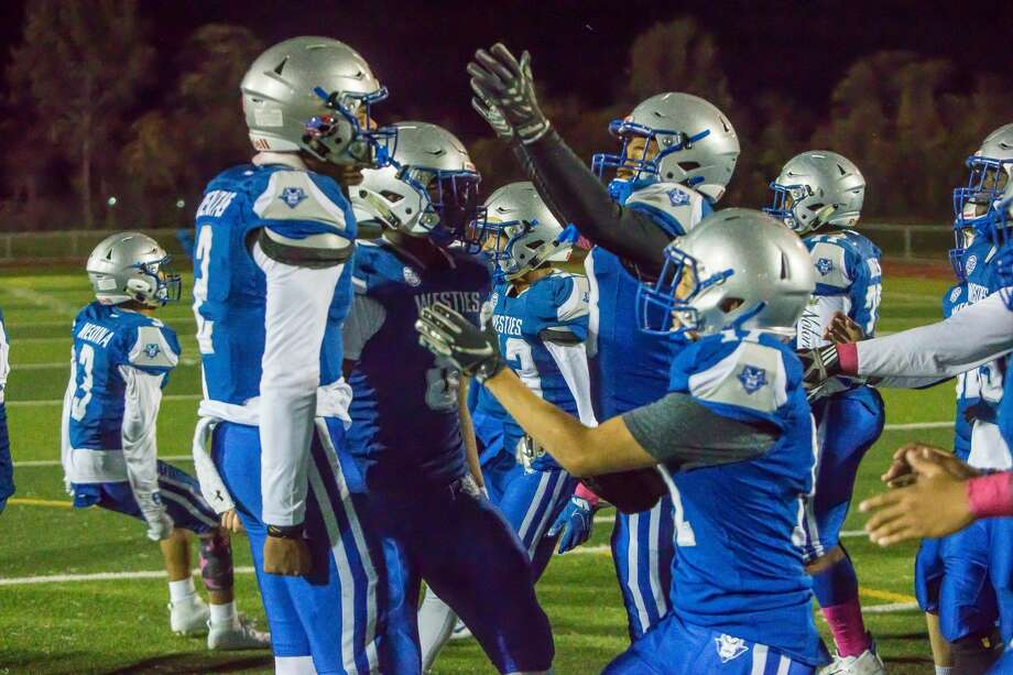 (John Vanacore/For Hearst Connecticut Media) THe West Haven Blue Devils hosted Norwich Free Academy at Ken Stong Stadium Firday night. The Westies defeated the Wildcats 27-13. Photo: (C)JOHN H VANACORE