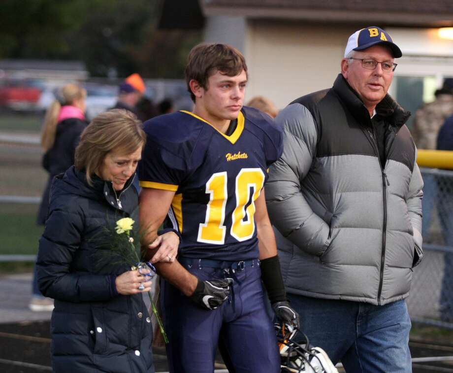 Bad Axe seizes victory on Parents Night against Caro by 41-27 margin on Friday, Oct. 18. Photo: Eric Rutter / Huron Daily Tribune