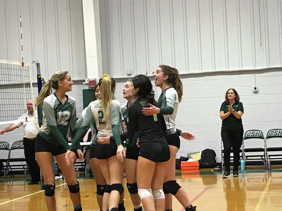 Sacred Heart Greenwich swept visiting volleyball foe Masters School, 3-0, on Friday, October 18, 2019, in Greenwich. Photo: David Fierro /Hearst Connecticut Media