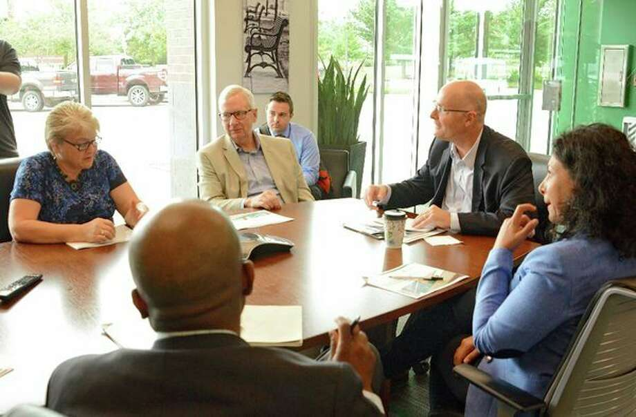 The Axia Institute team meets with U.S. Rep. John Moolenaar. (Photo provided)