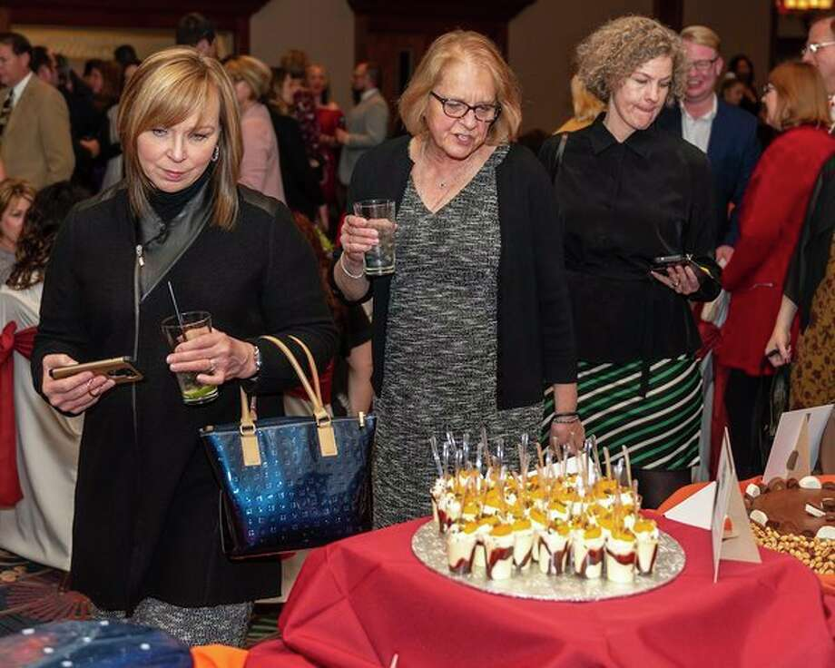 Guests at the 2018 A Chocolate Affair view beautiful cakes and tortes. (Photo provided)