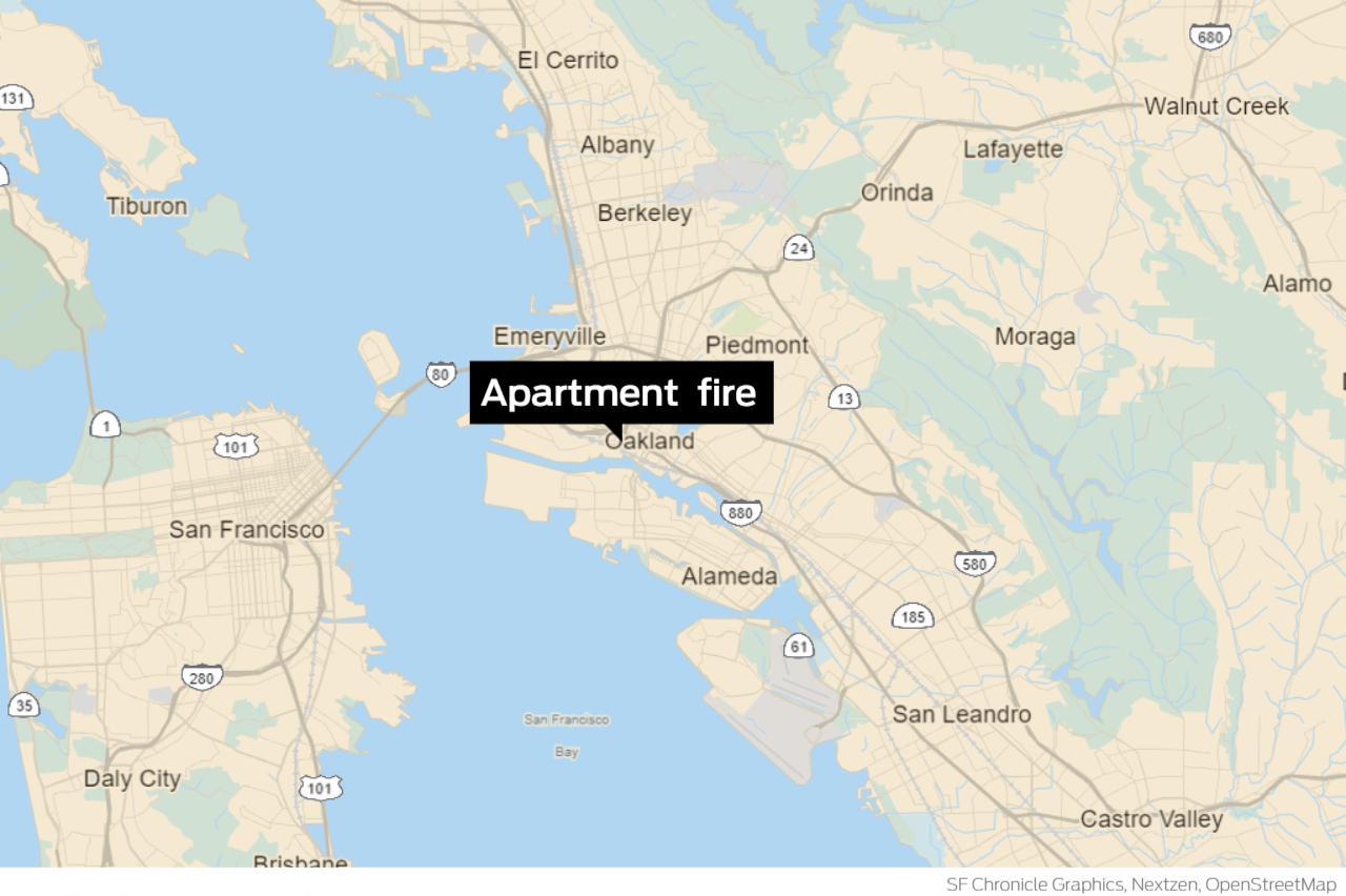 Oakland firefighters battle apartment fire near Jack London Square