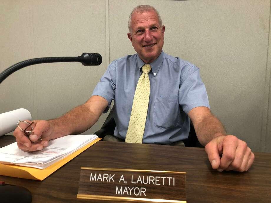 Mark Lauretti won his 15th consecutive term as Shelton mayor. Photo: Brian Gioiele / Hearst Connecticut Media / Connecticut Post