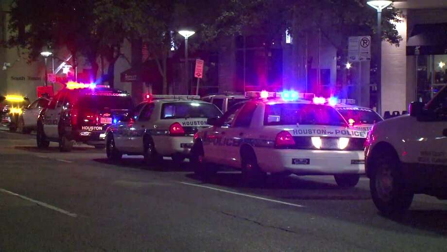 A man died Friday night after falling from a third story balcony in downtown Houston, according to the Houston Police Department. Photo: Metro Video Services
