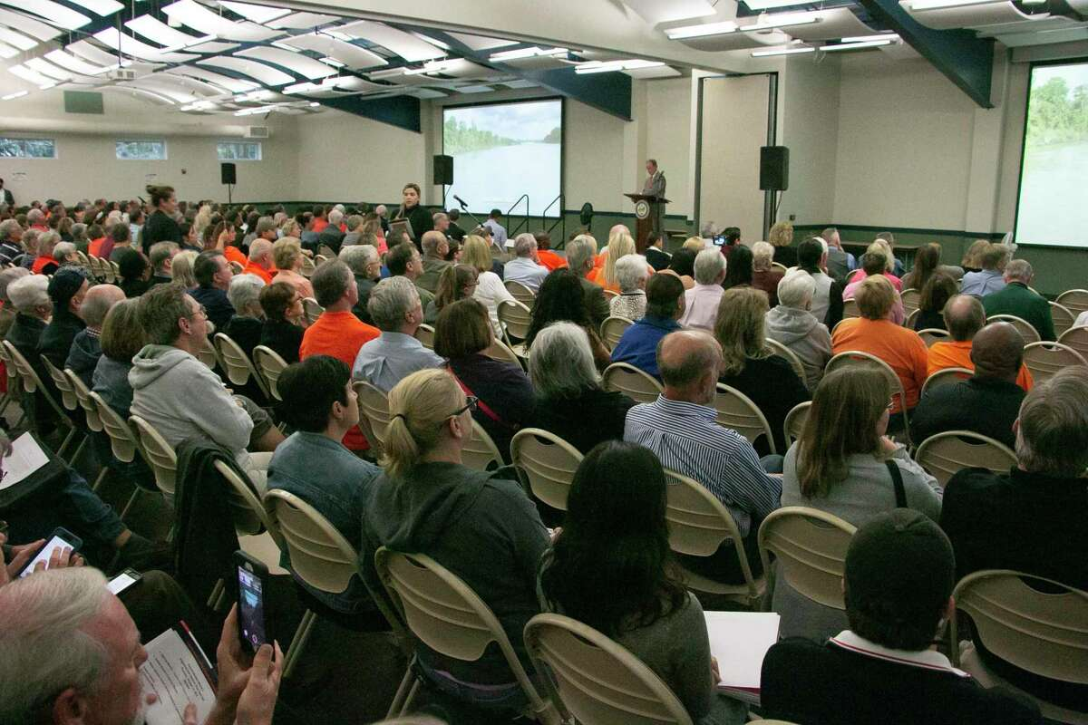 Dave Martin's Town Hall in Kingwood was held on Oct. 17 with over 400 people in attendance who had concerns about actions being taken for flood mitigation.